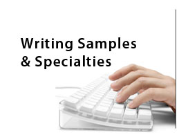 button for writing samples